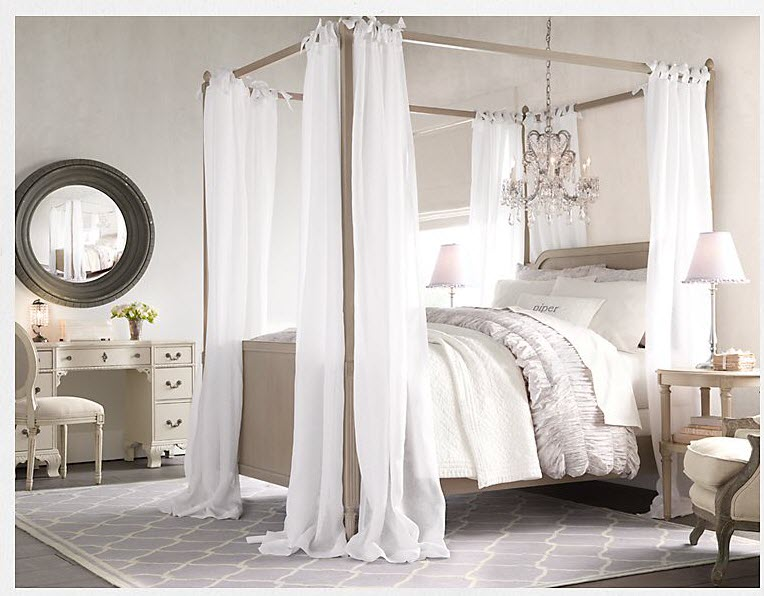 White themed bedroom