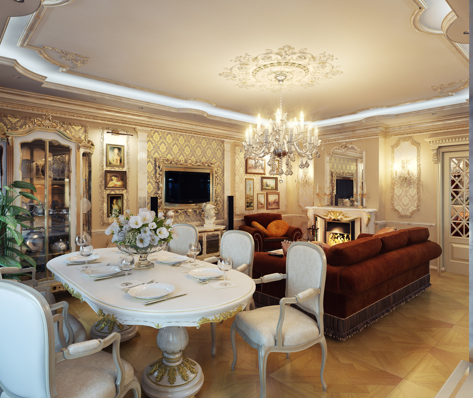 Dining And Living Room Furniture: Royal Home Designs !