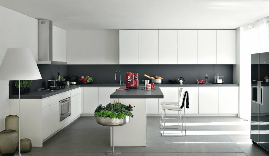 Modern Kitchen with white theme