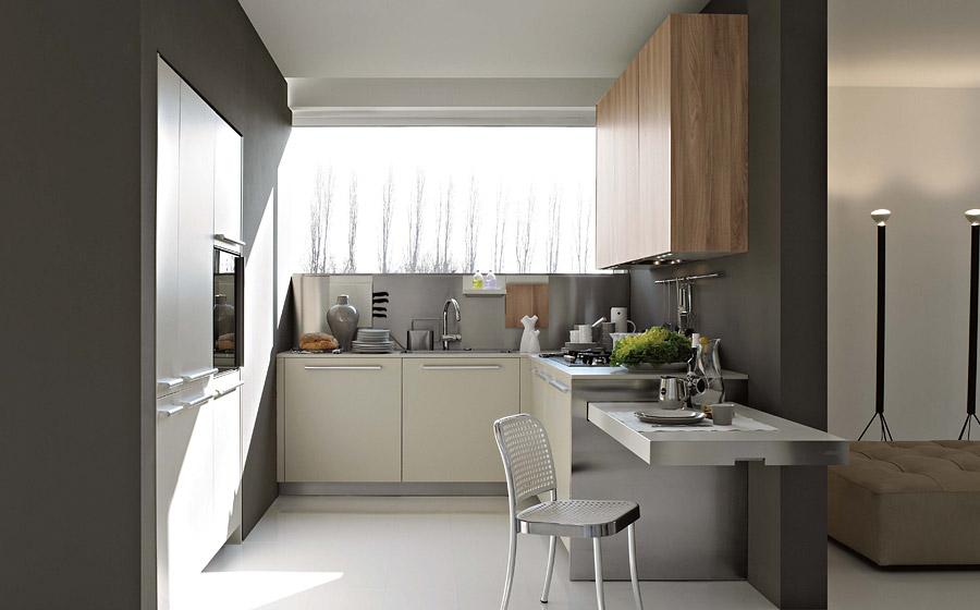 Modern Kitchen with wood work