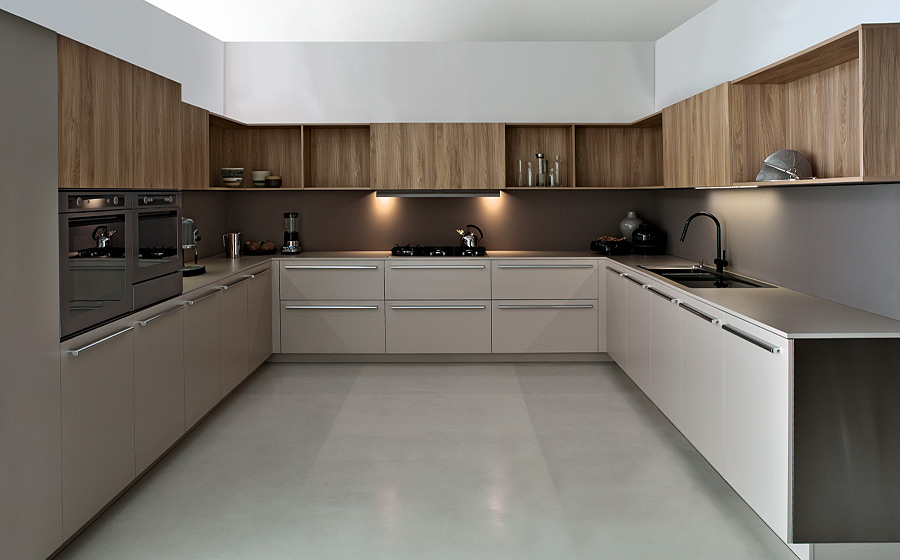 Modern Kitchen with woodern work