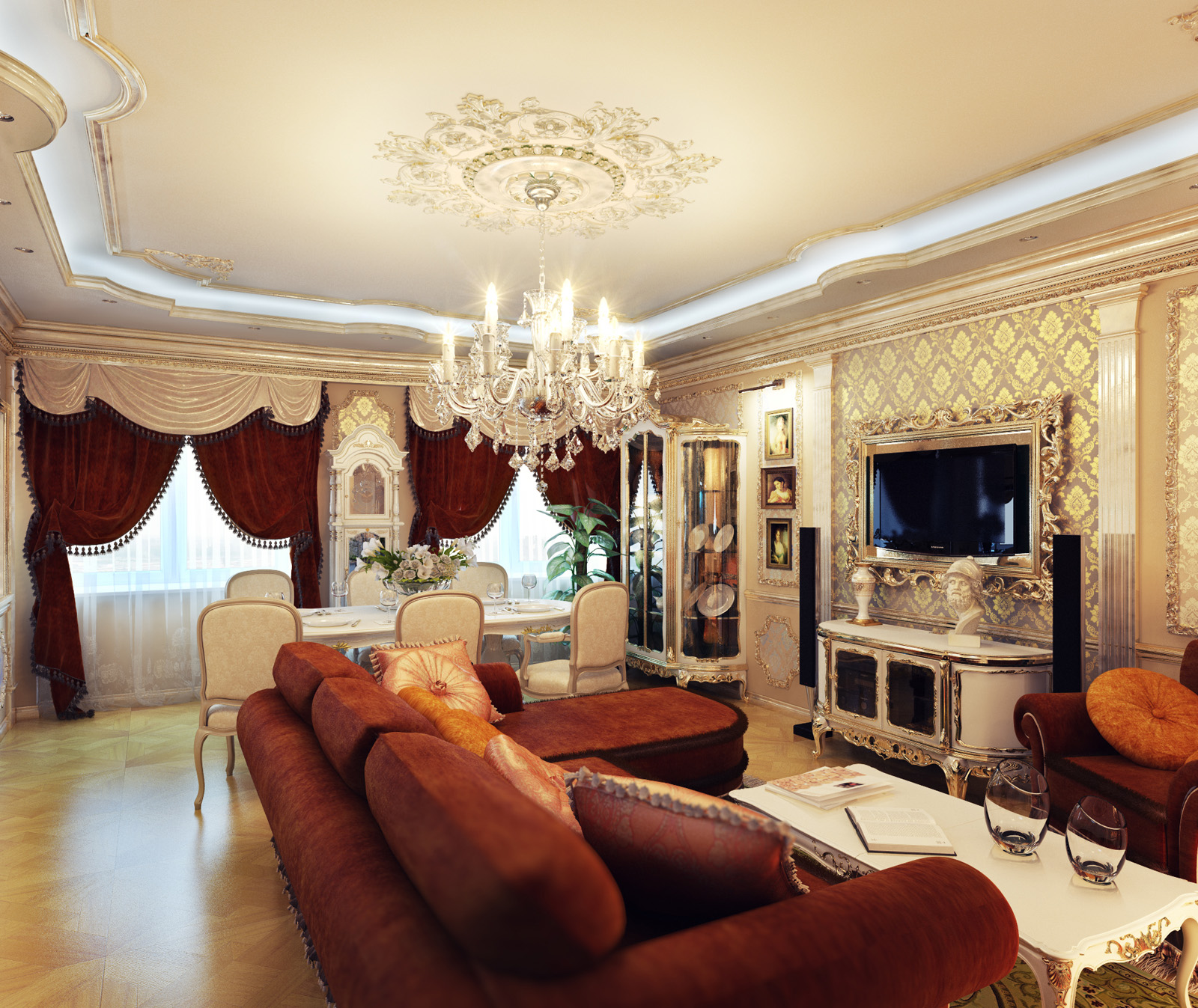 Royal home designs home designing for Home design living room