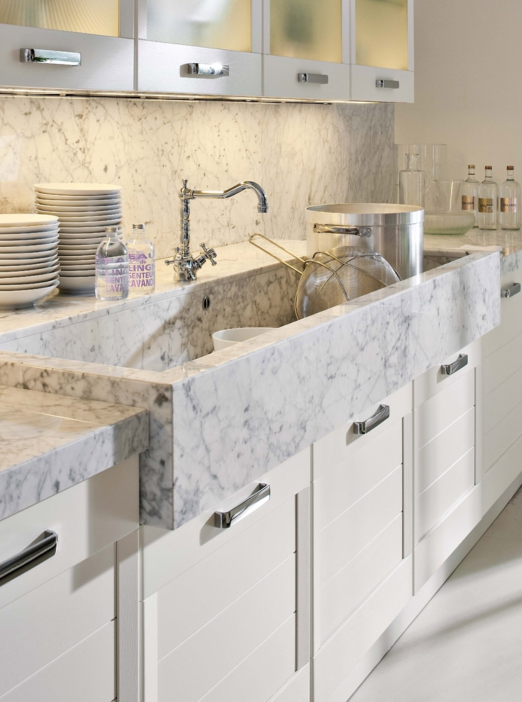 Stone work designs in Kitchen