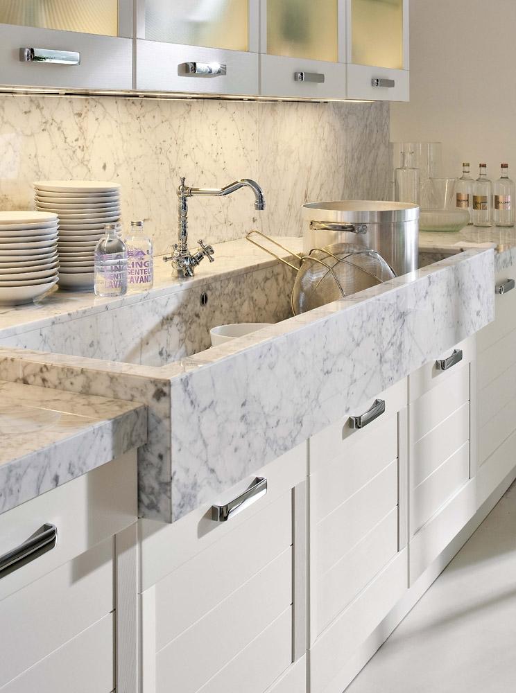Stone work designs in Kitchen