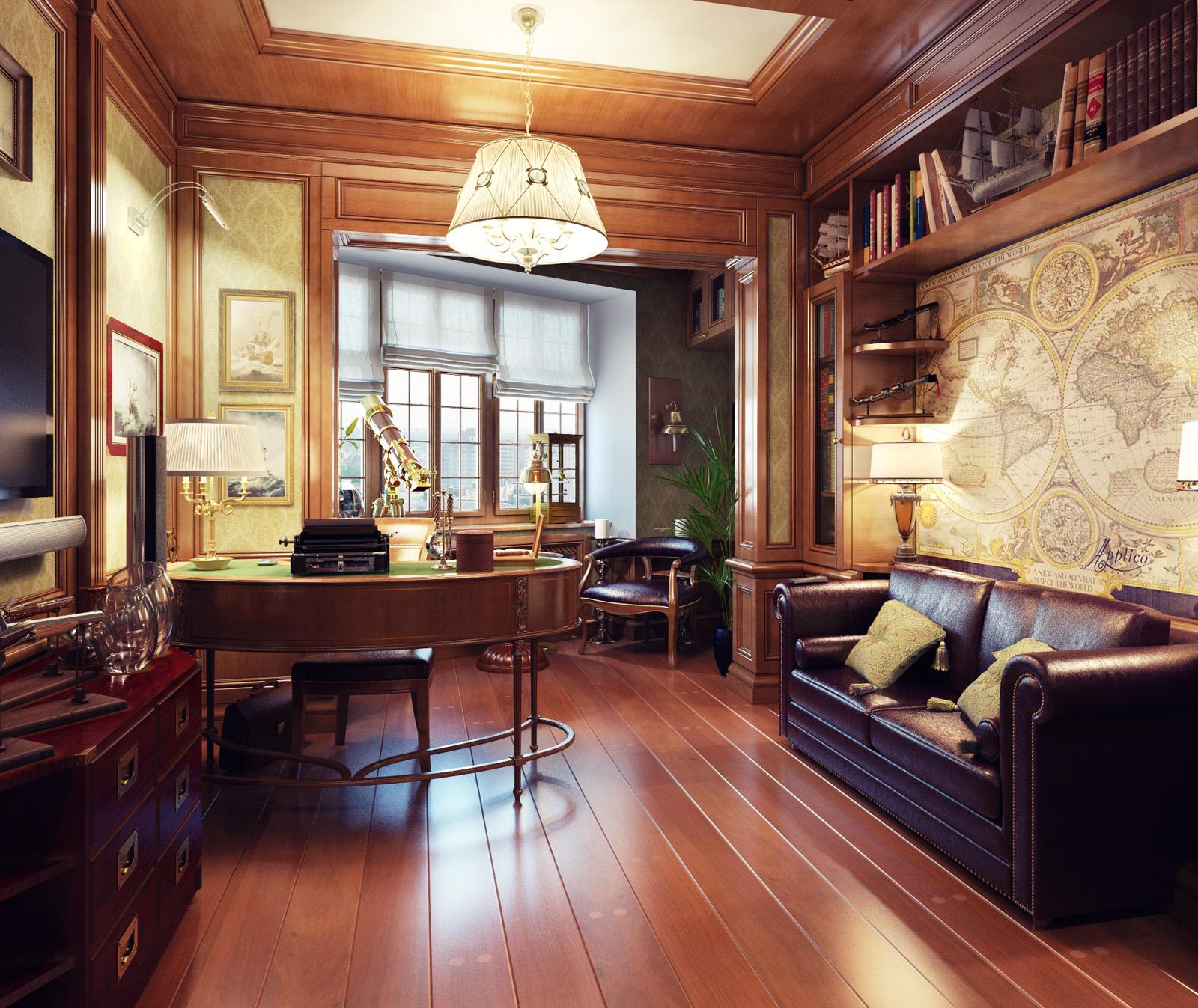 Study Room With Aquarium: Royal Home Designs !