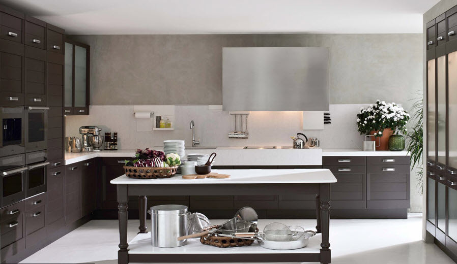 Wood and Stone Work in Kitchen