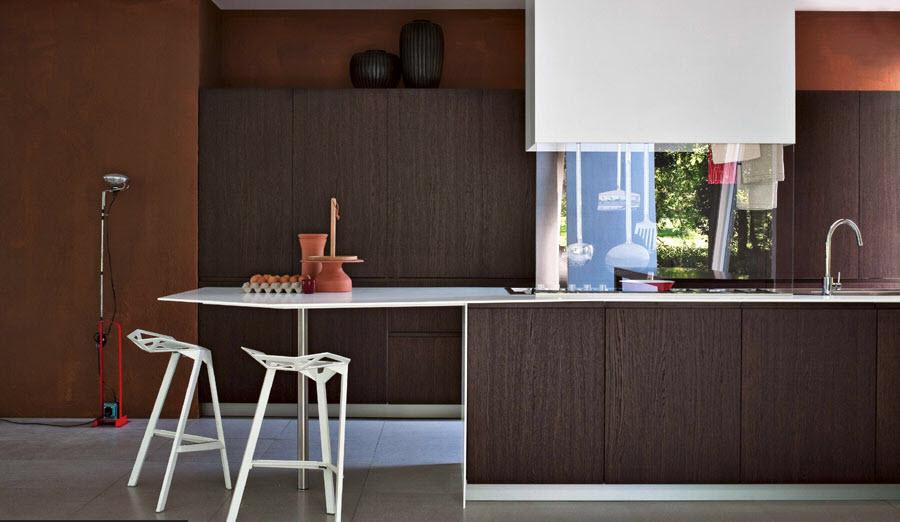 Wooden pattern in kitchen