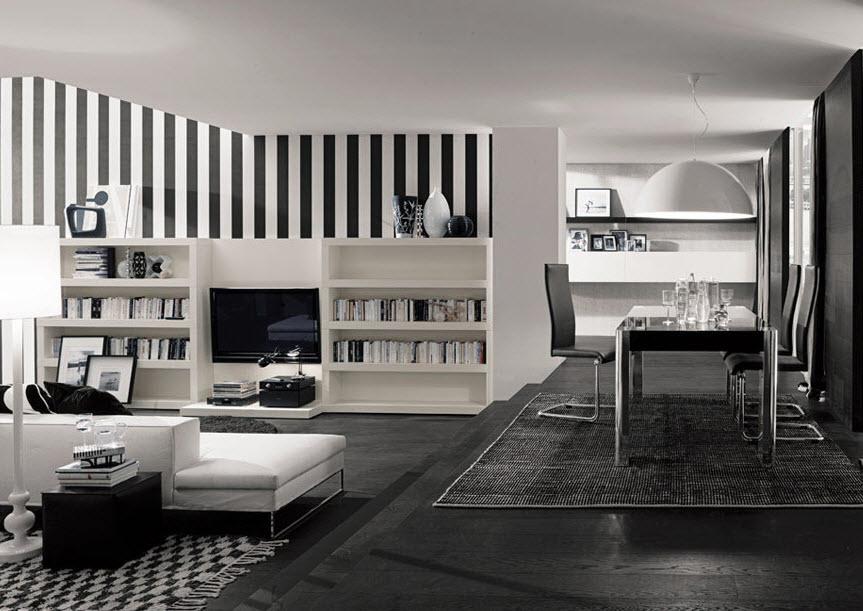 Black and White Bookcase