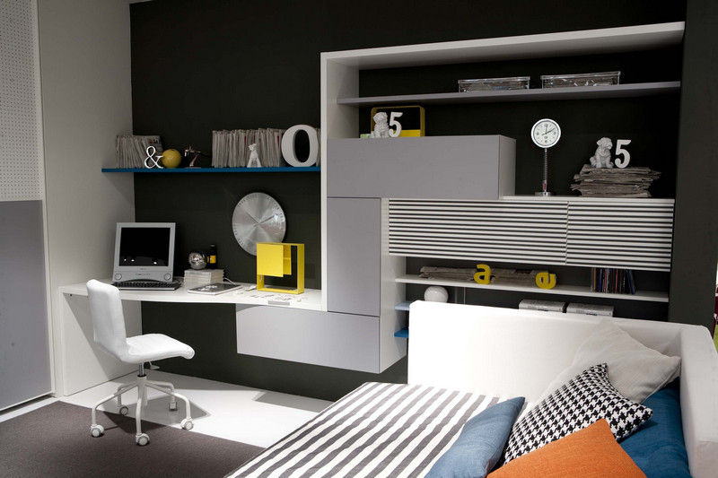 Black and White combination For Kids Studyspace