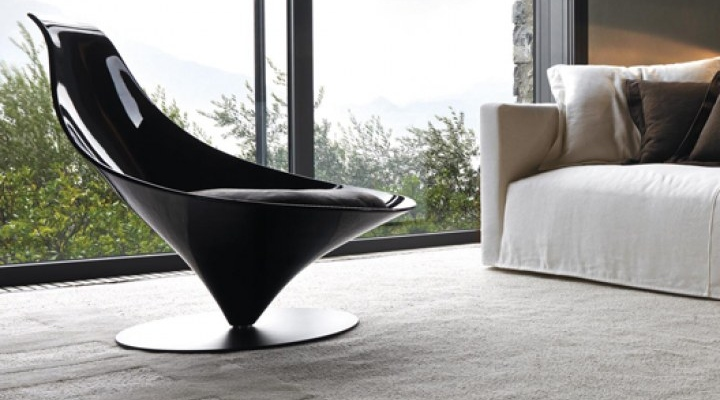 Black cone shape chair