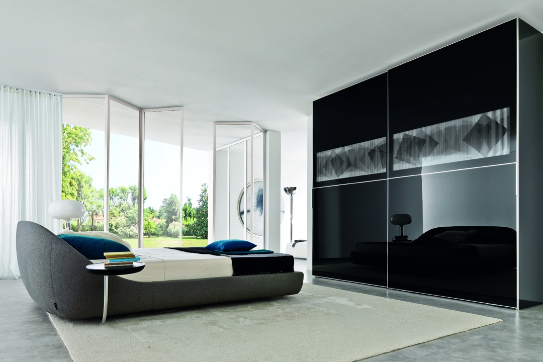 Black glass closet with new look