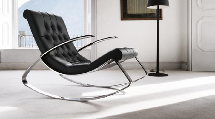 Black rocker chair