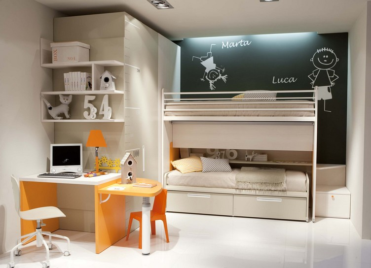 Bunk bed design for two kids