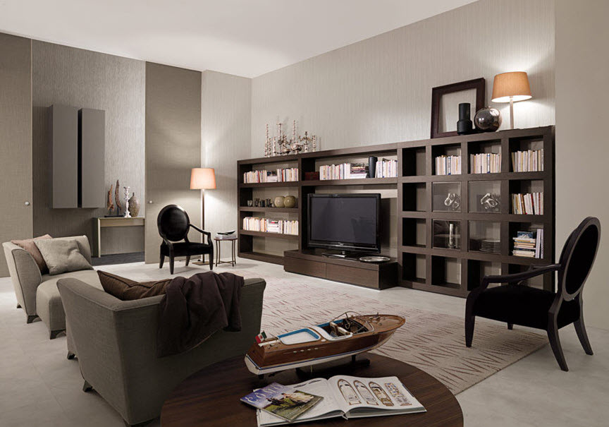 Dark Brown Bookcase for living room