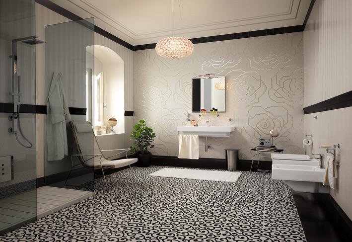 Design for big space bathrooms