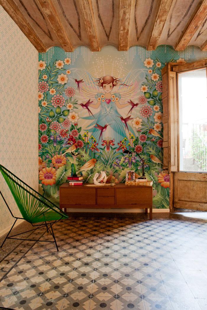 Girl wallpaper design