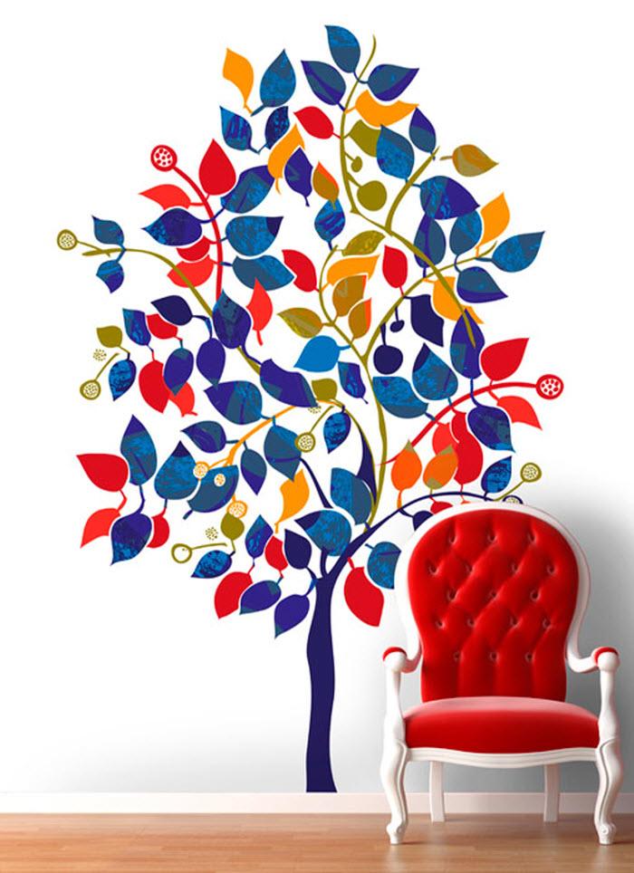 Multicolor tree image wallpaper