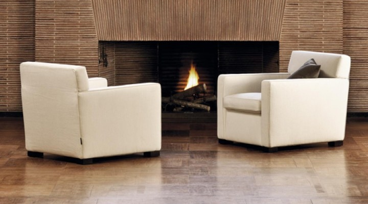 Sofa chairs ideal to keep near fireplace