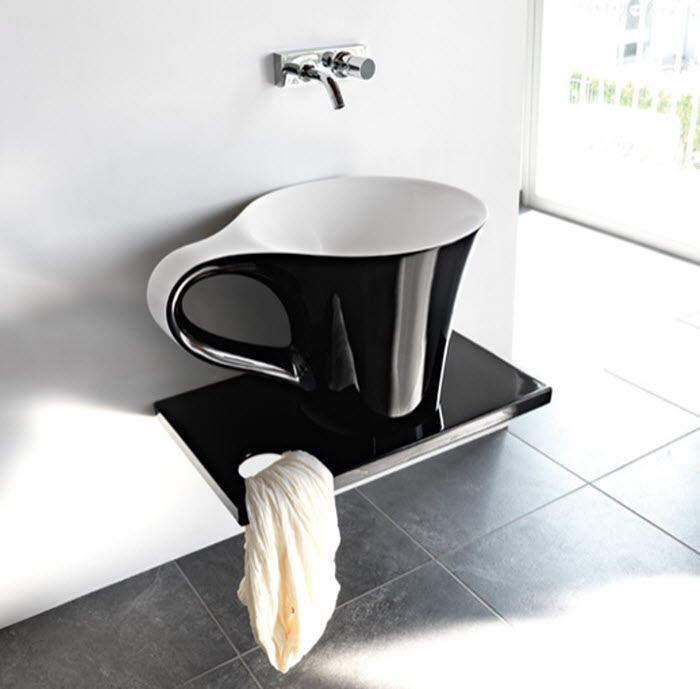 Stylish cup shaped wash basin design