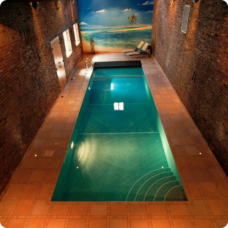 Swimming pool for small indoor area