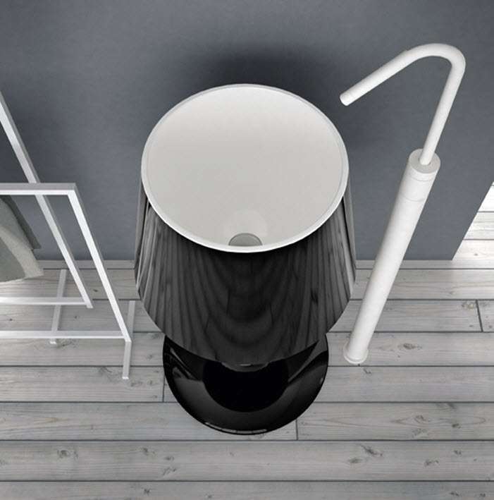 Umbrella stand design of wash basin