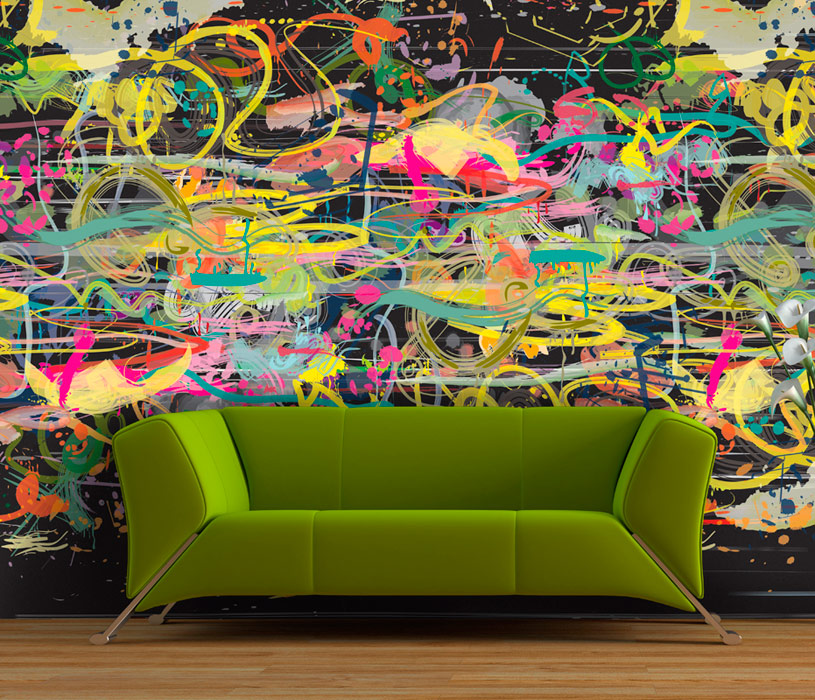 Vibrant color wallpaper design