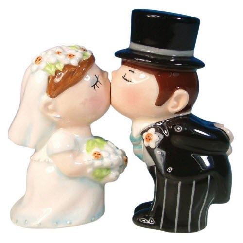 Bride and Groom Salt and Pepper Shaker Set