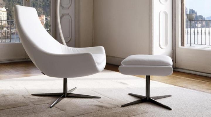 White designer Lounge chair