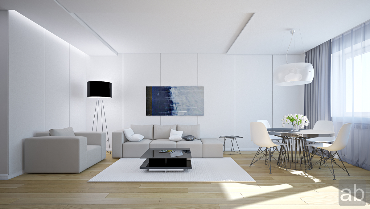modern living room ideas white com