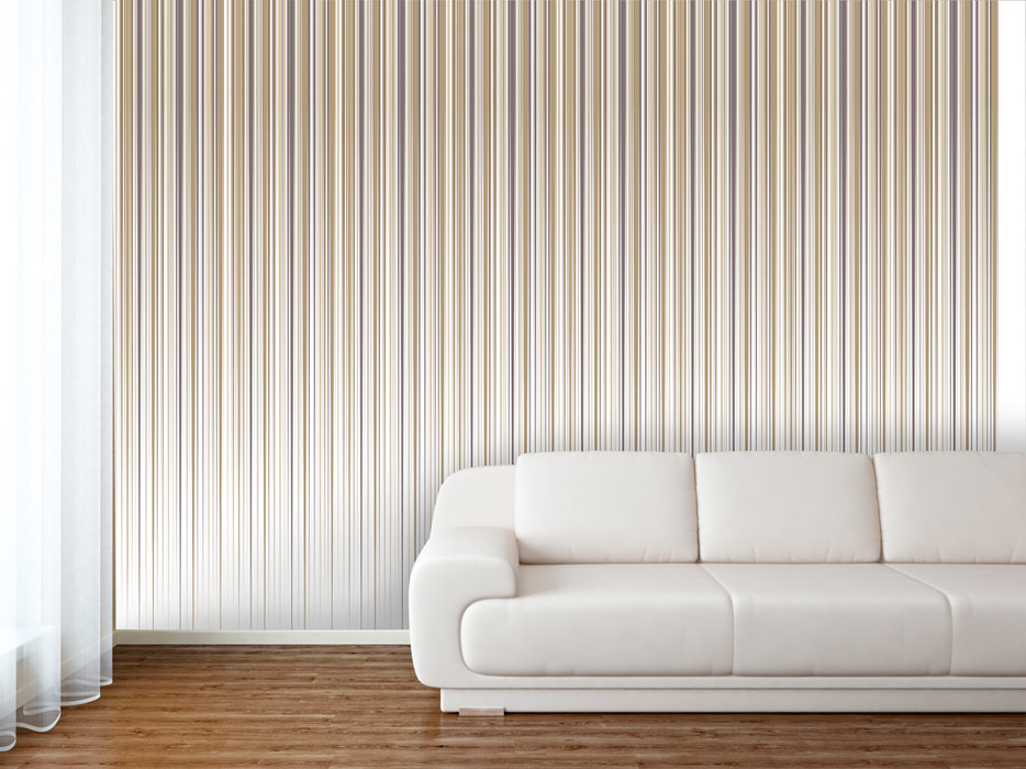 White vertical lined wallpaper