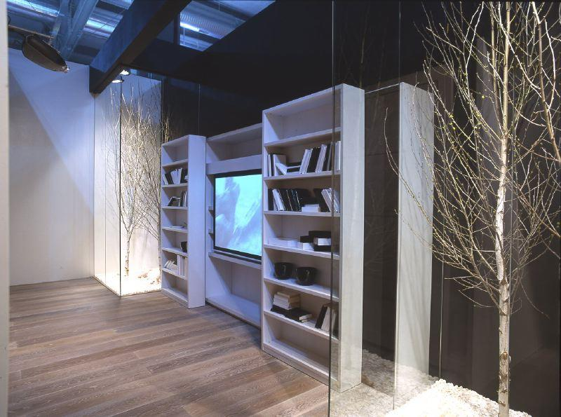 Wooden Bookcase with lights