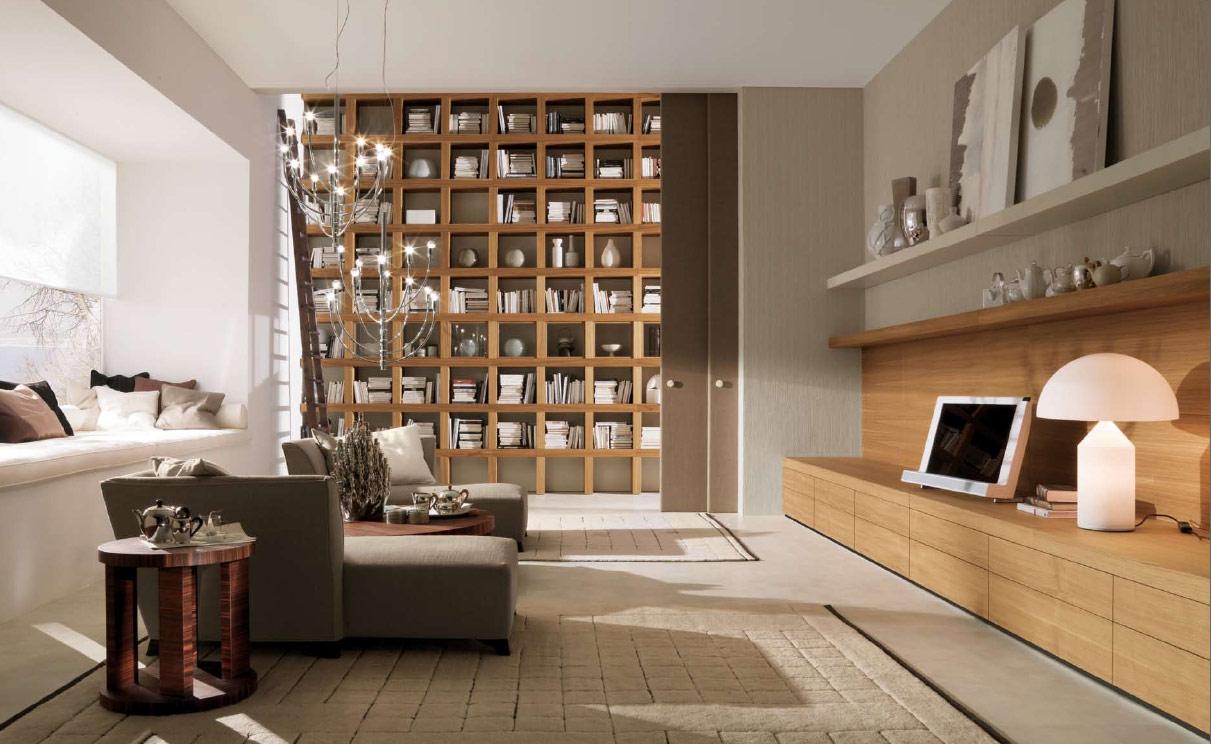 Wooden Bookshelf for Living Room
