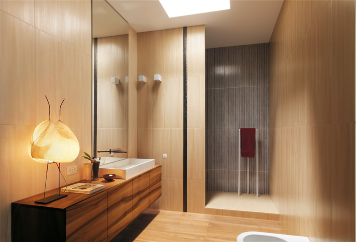 Wooden touch in Baathroom