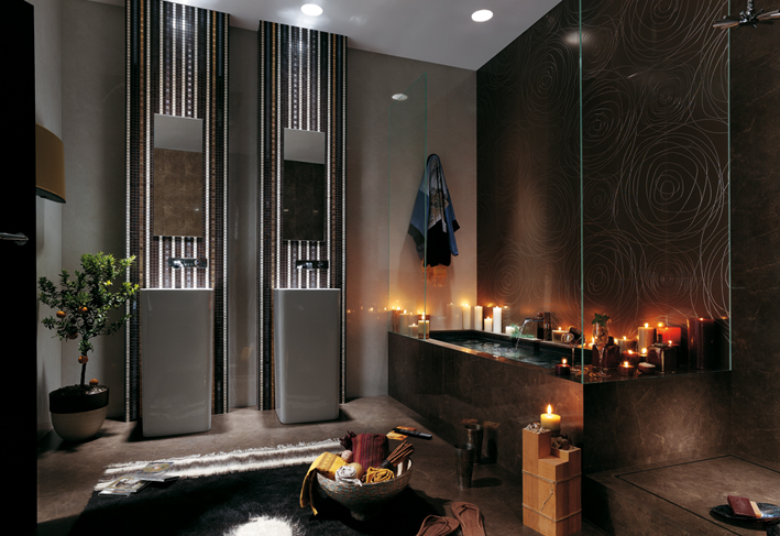 candle decoration in bathroom
