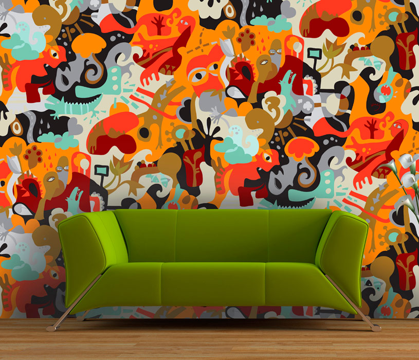 colored wallpaper design