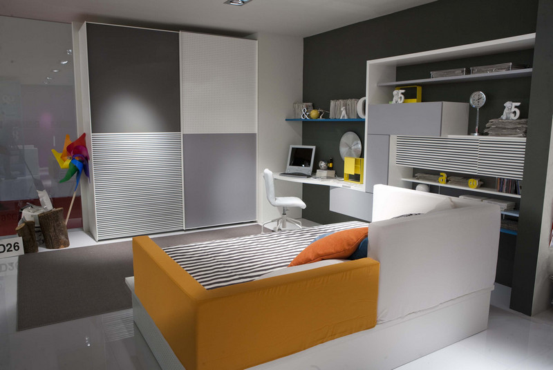 compact bed design for kids room