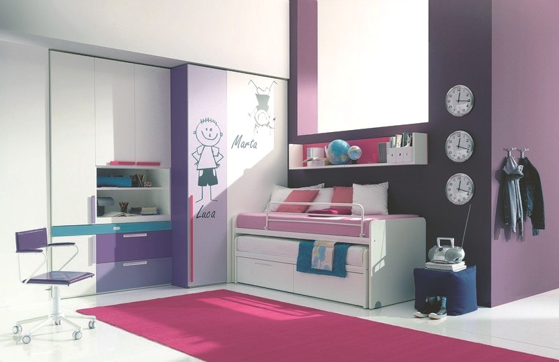 compact twin bed design for your kids room