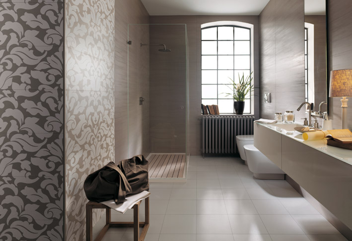 simple bathroom designs with designer tiles