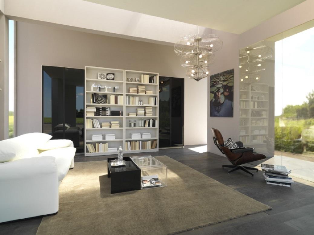 white-bookshelf-for-living-room