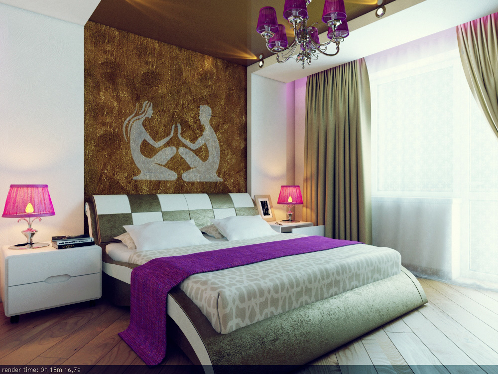 Artistic wall designs for Bedroom Designer Wall