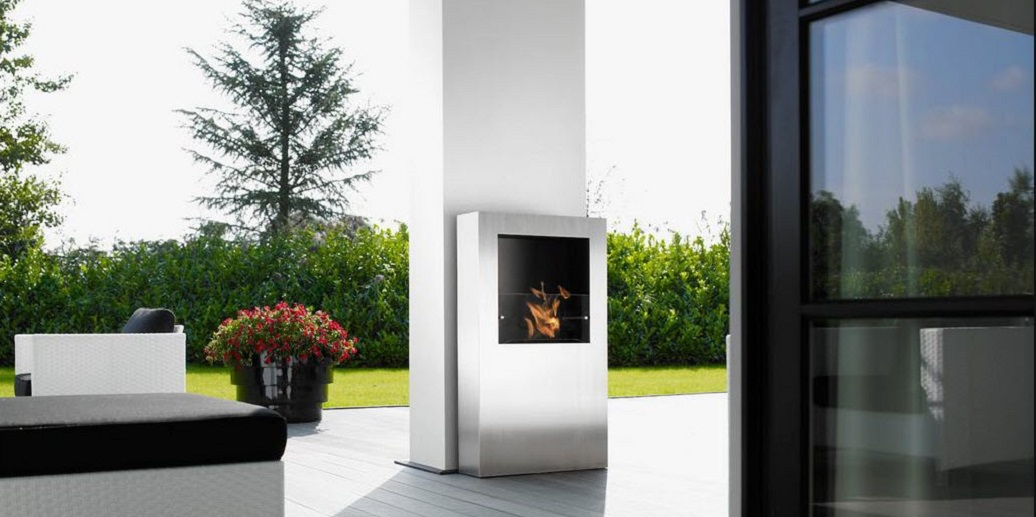 Fireplace-in-the-white-wall