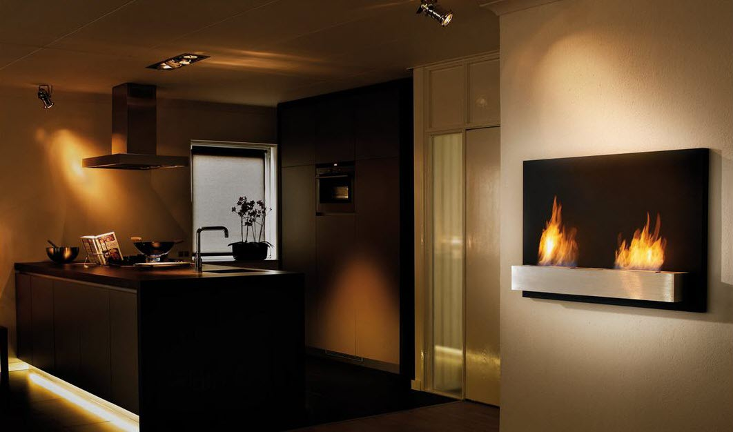Firespace design for wall