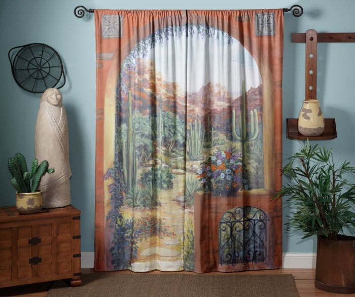 Art work on Curtain Design