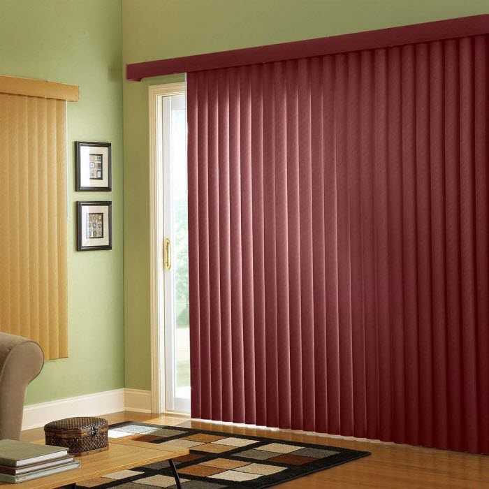 BrylaneHome Embossed Vertical Blinds