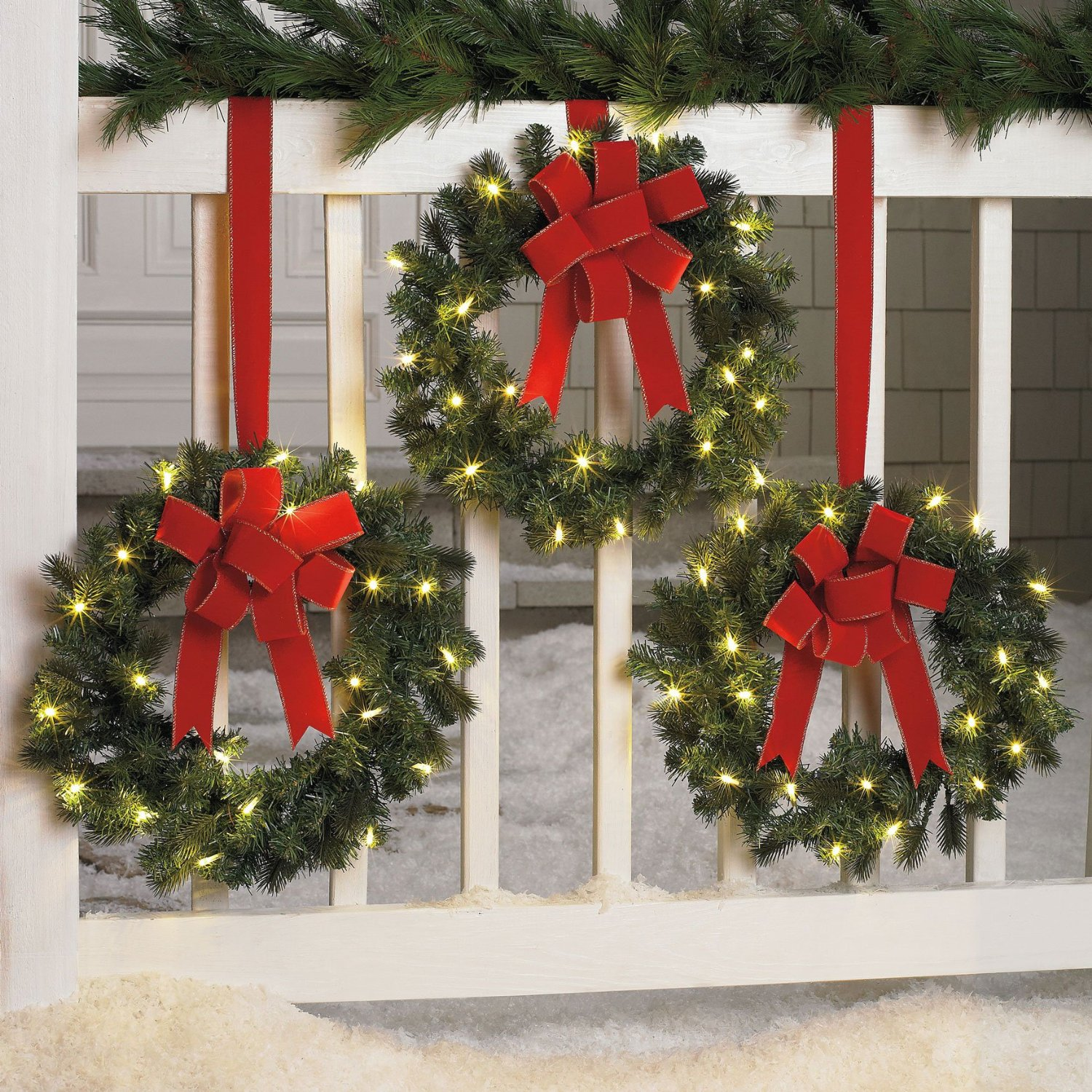 BrylaneHome Set Of 3 Cordless Outdoor Christmas Things