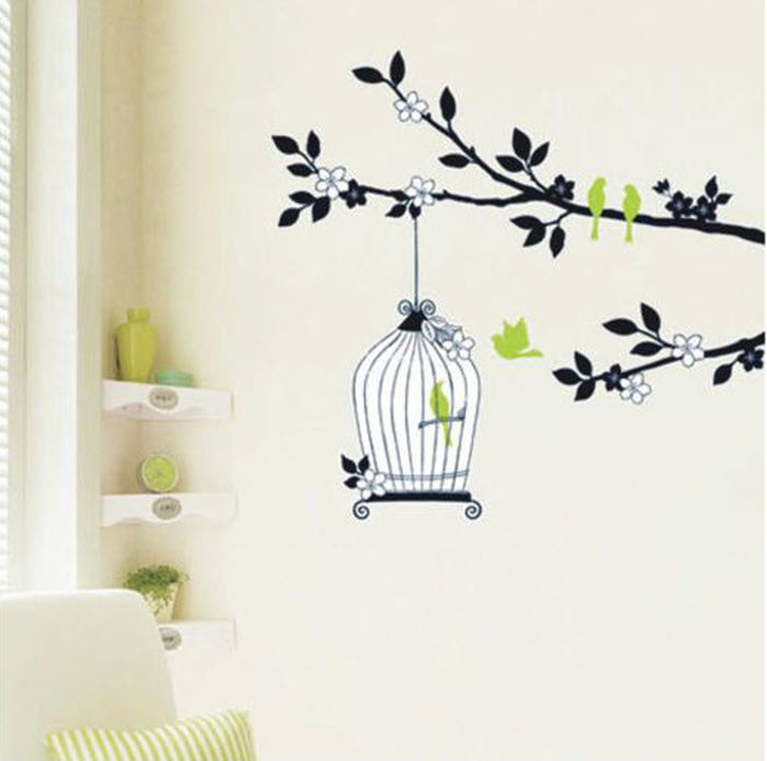 Cage on wall Sticker