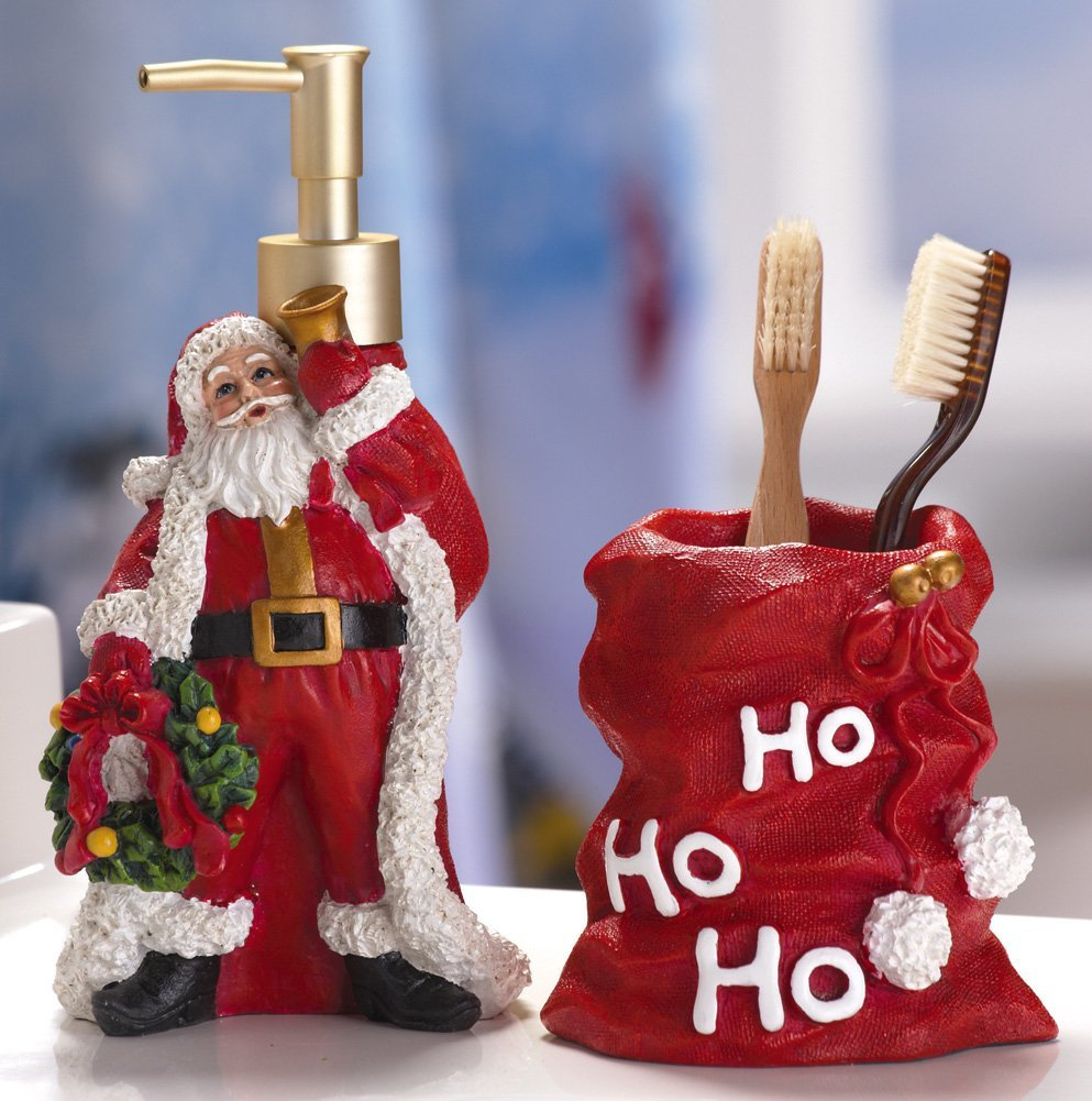 Attractive christmas home decoratives home designing for Bathroom xmas decor
