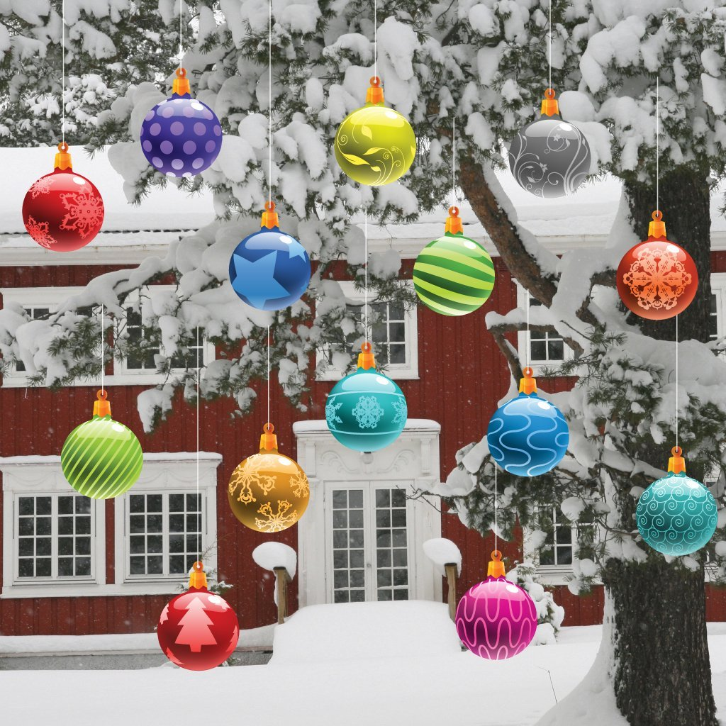Christmas ornaments for outside trees for Outside house ornaments