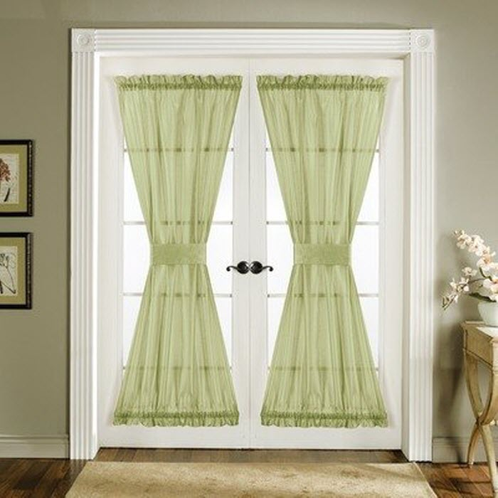 Curtains For Double French Doors Window Treatments for
