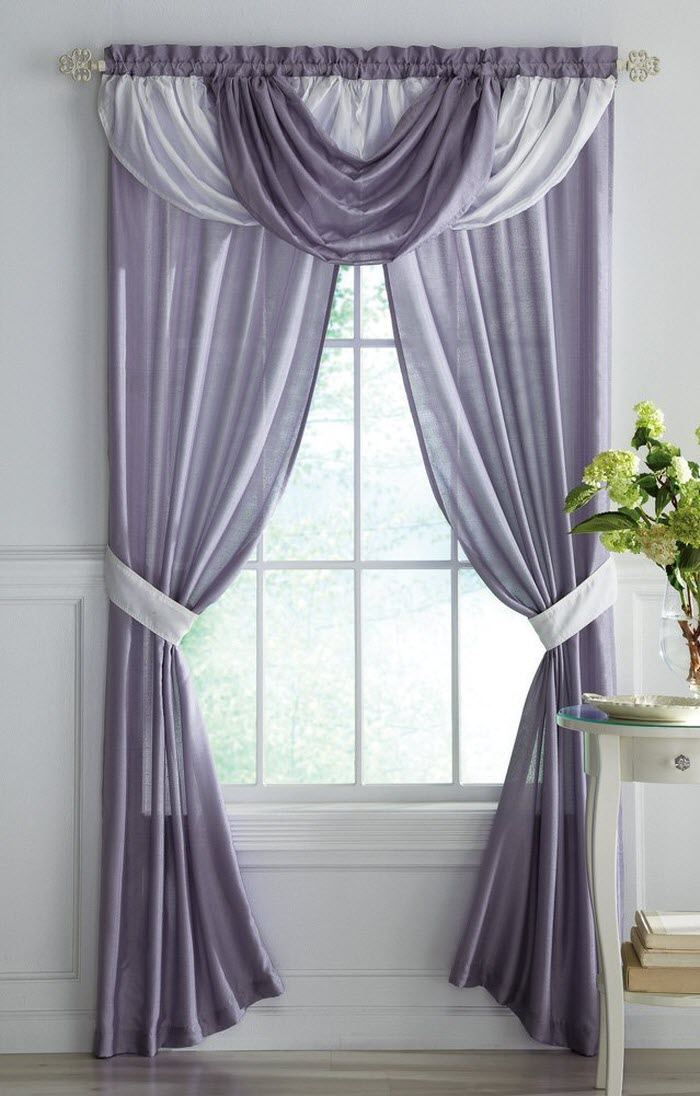 Grey and white curtain design